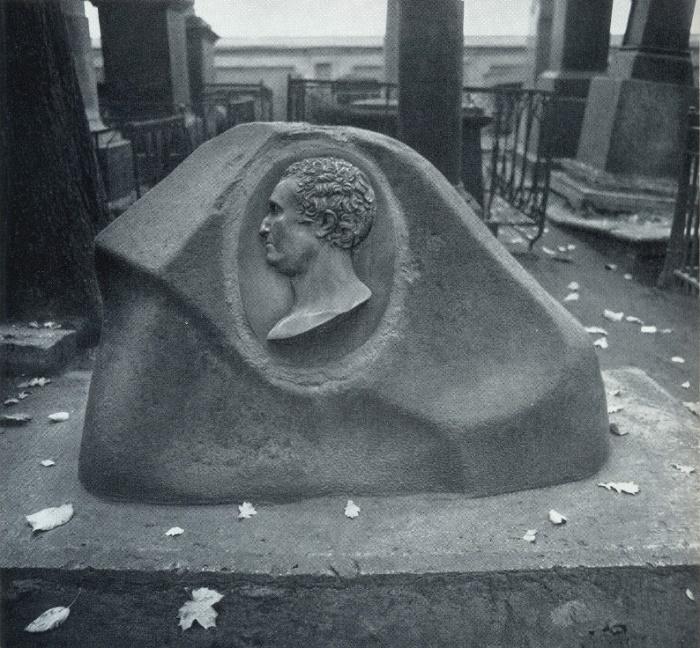 VI Demut-Malinovsky. The tomb of P. P. Chekalevsky. 1817. Granite, bronze, Necropolis of the XVIII century, the Alexander Nevsky Lavra. St. Petersburg