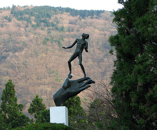 Wonderful sculpture decorates Hakone Open-Air Art Museum in Japan