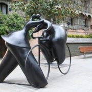 Andorra la Vella, Andorra. Monument to kissing lovers