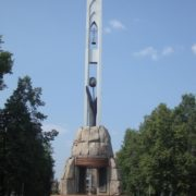 Beautiful memorial in the Siberian city of Novokuznetsk - Black Tulip