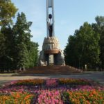 Black tulip memorial complex in Novokuznetsk
