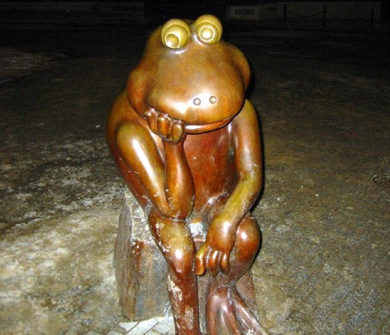 Boston, US, monument to a frog