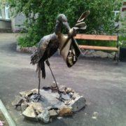 Chita. Monument to the Stork, bringing children
