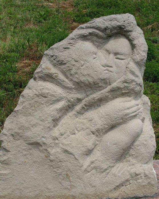 Kremenchug, Russia, Monument to kissing lovers