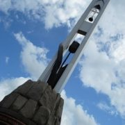 Monument Black Tulip, dedicated to soldiers - Novokuznetsk residents who died in Afghanistan, Chechnya and other local wars