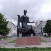 Rovno, Ukraine monument to a craftswoman
