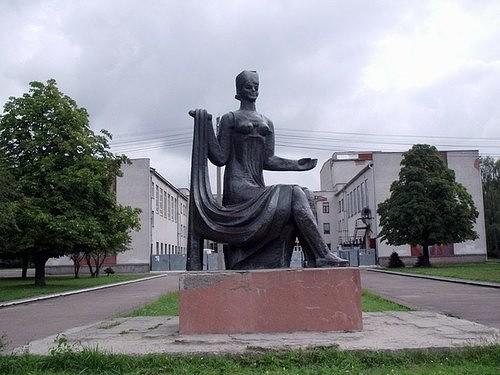 Rovno, Ukraine monument to a craftswoman