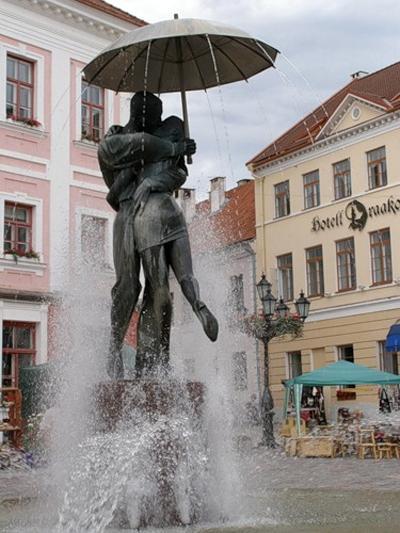 Tartu, Estonia. Monument to kissing lovers