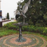 Ternopol, Ukraine. Monument to the Stork, bringing children