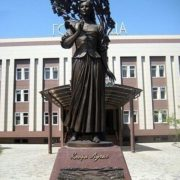 Actress Klara Luchko, monument in Krasnodar of Russia