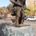 Behind the Amazing Samson monument in Orenburg