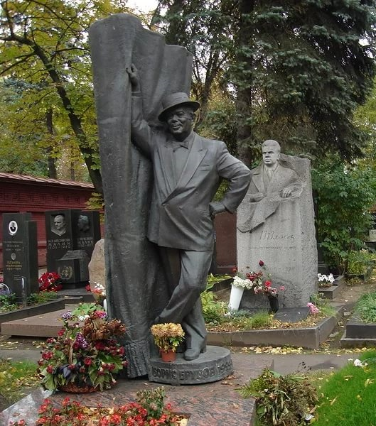 Boris Brunov, film and theater actor, Novodevichy cemetery