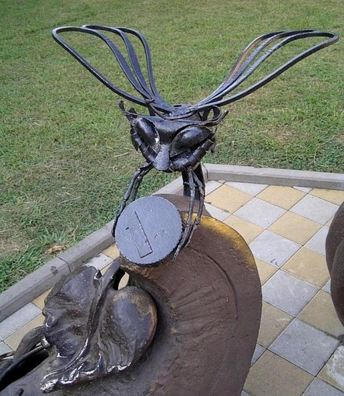 Closeup. Sochi monument to Tsokotukha the Fly