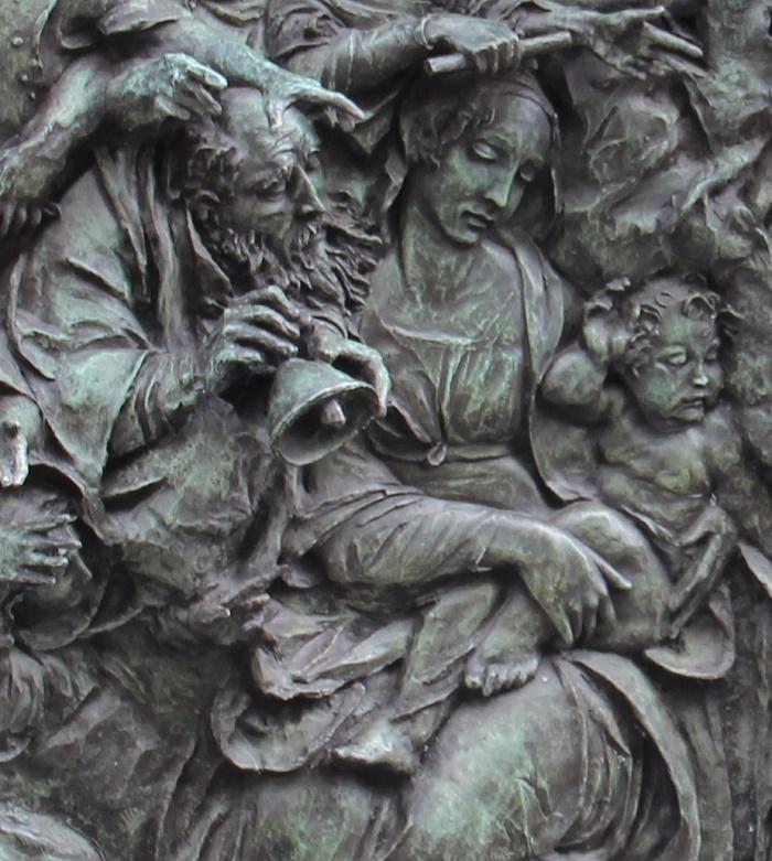 Detail of grave monument to Vyacheslav Tikhonov