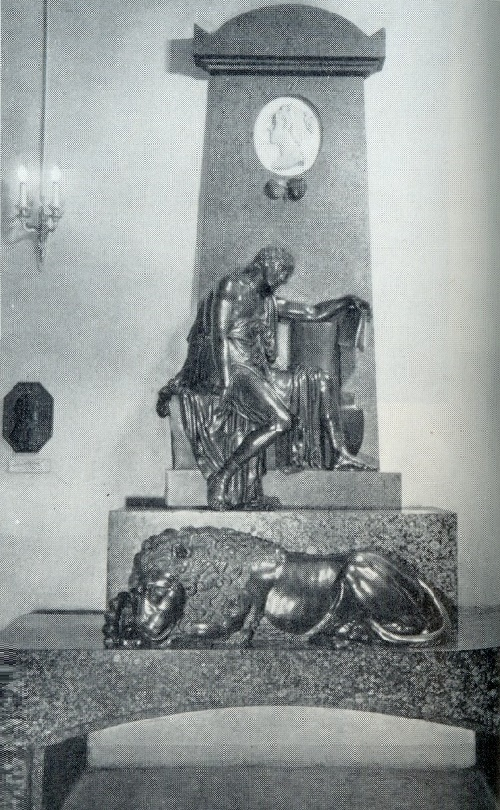 E. Chichagova Headstone. 1813. Bronze, marble, granite. Annunciation burial vault of the Alexander Nevsky Lavra, St. Petersburg