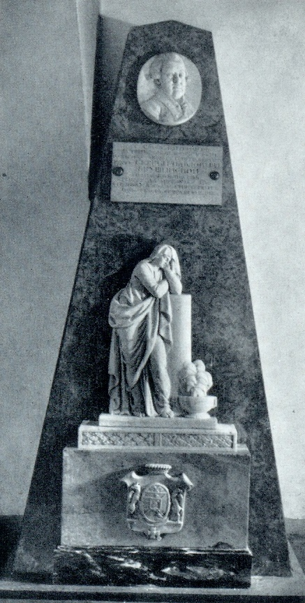 F. F. Shchedrin. The tomb of SP Yaguzhinsky. The beginning of the XVIII century. Marble. Annunciation burial vault of the Alexander Nevsky Lavra