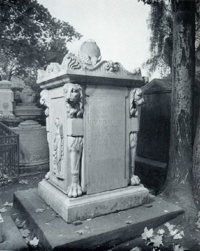 IG Osterreich. The tomb of IM Izmailov. 1780s. Marble. Petersburg, Necropolis of the XVIII century, the Alexander Nevsky Lavra
