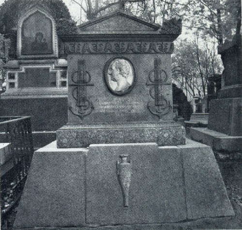 Headstone of V. Ya. Chichagov. After 1809. Granite, marble, bronze. Necropolis of the XVIII century Alexander Nevsky Lavra. St. Petersburg