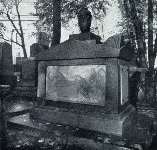 The gravestone of the Osokins. The beginning of the XIX century. Granite, marble, bronze. Necropolis of the XVIII century Alexander Nevsky Lavra. St. Petersburg
