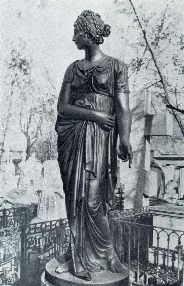 EI Gagarina (former view in the Necropolis of the eighteenth century of the Alexander Nevsky Lavra). 1803. Bronze, granite