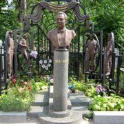 Odessa, Ukraine. Grave monument of Mikhail Vodyanoi