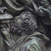 One of the fragments of monument to Vyacheslav Tikhonov