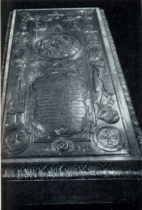 Prousenberger. The tomb of Boris Sheremetev. 1790s. gilded bronze. Petersburg, Lazarevskaya tomb of the Alexander Nevsky Lavra