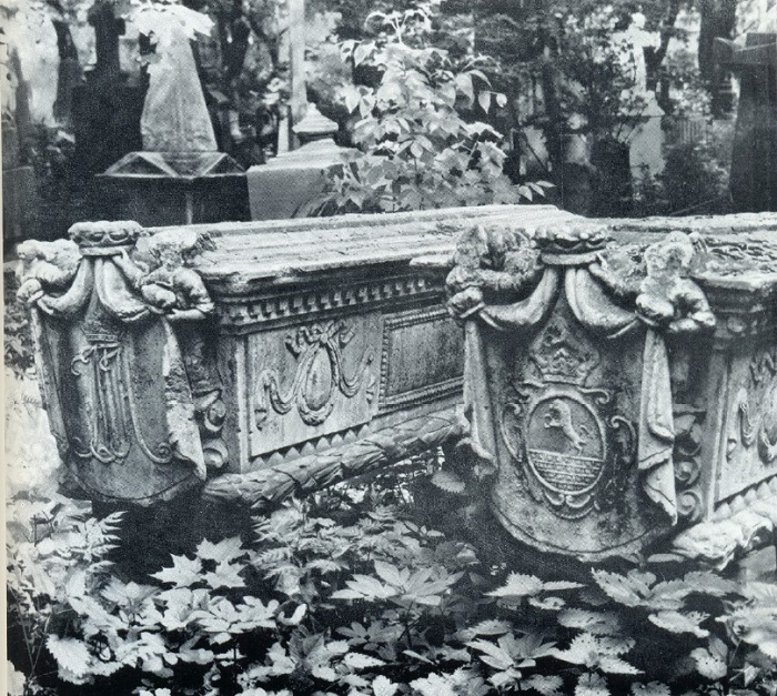 Russian memorial sculpture. Unknown master. Unknown tombstones. 1770-1780. Moscow, Necropolis of the Donskoi Monastery