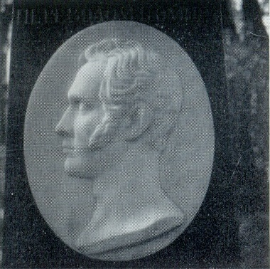 S.I. Galberg. The tomb of NI Gnedich. Fragment (in the copy). The 1830s. Marble. Petersburg, Necropolis of Artists