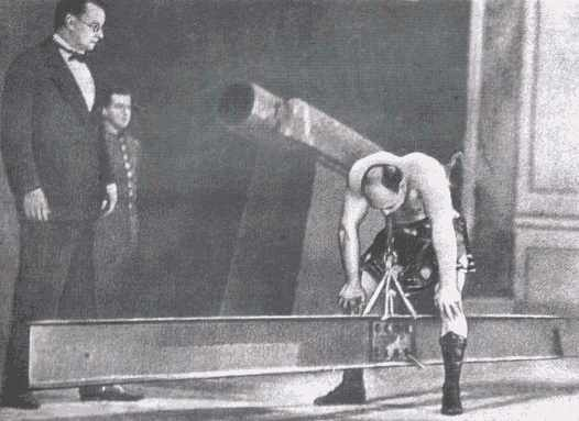 Samson, athlete Alexander Zass performing in the circus