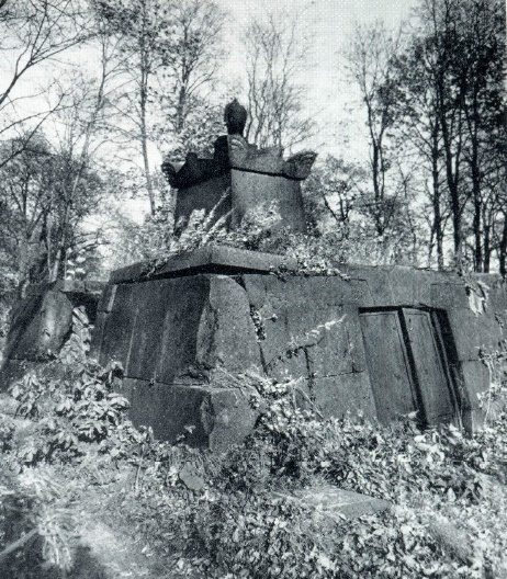 The tomb of the unknown. Around 1817-1820. Granite St. Petersburg, Smolensk (Lutheran) cemetery. Unknown wizard