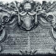 The tombstone of B. I. Prozorovsky. Around 1705. White stone. Unknown master. Moscow, Necropolis of the Donskoi Monastery