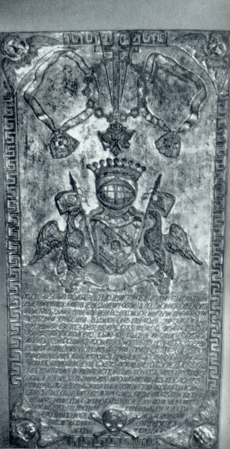The tombstone of PG Chernyshev. After 1773. Gilded copper (pinhole). Petersburg, Lazarevskaya tomb of the Alexander Nevsky Lavra. Unknown wizard