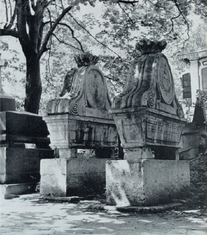 Tombs of the Fon-Vizins, 1800s. White stone. Moscow, Necropolis of the Donskoy Monastery. Unknown wizard