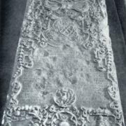 Tombstone of DG Rzhevskaya. 1720s. Marble. Petersburg. Annunciation burial vault of the Alexander Nevsky Lavra. Unknown wizard