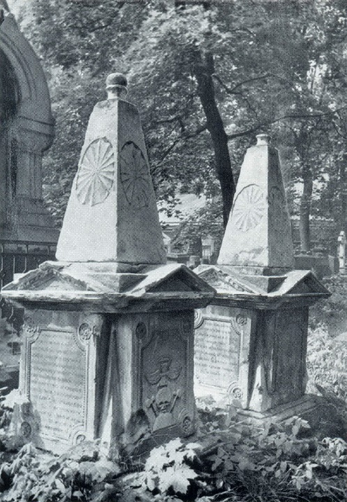 EP Khovanskaya and PA Elagin. The beginning of the XIX century. White stone. Moscow, Necropolis of the Donskoy Monastery. Unknown wizard