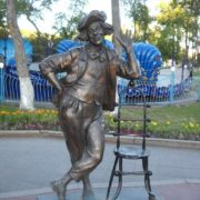 Tyumen, Russia. Monument to circus actor, clown Oleg popov