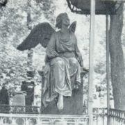 Unknown master. Headstone of A. A. Sazikova. 1880s. Bronze, granite. Moscow, Necropolis of the Donskoi Monastery