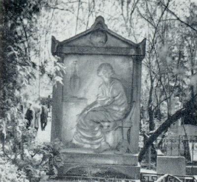 V. A. Popova. The gravestone of MG Savitskaya-Burdzhalova. 1914. Marble. Moscow, Novo-Maiden Cemetery