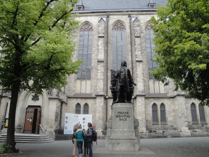 Johann Sebastian Bach, the most famous blind, whose monument is near the Church of St. Thomas in Leipzig