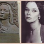 Behind Russian actresses monuments