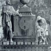 Gravestone of SA Stroganova (the former view of the Necropolis of the XVIII century, the Alexander Nevsky Lavra). 1802. Granite, marble