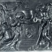 M.I. Kozlovsky. Tombstone of P. I. Melissino. 1800. Bronze. St. Petersburg, Lazarevskaya Tomb of the Alexander Nevsky Lavra