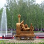 Fairy-tale character Yemelya monuments