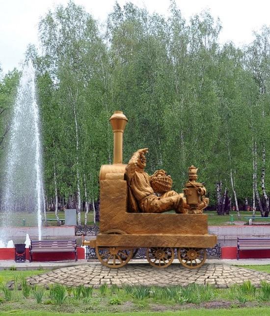 Fairy-tale character Yemelya monument