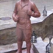 Monument to the main hero of the 1970 film The White Sun of the desert Sukhov (Anatoly Kuznetsov) in Donetsk