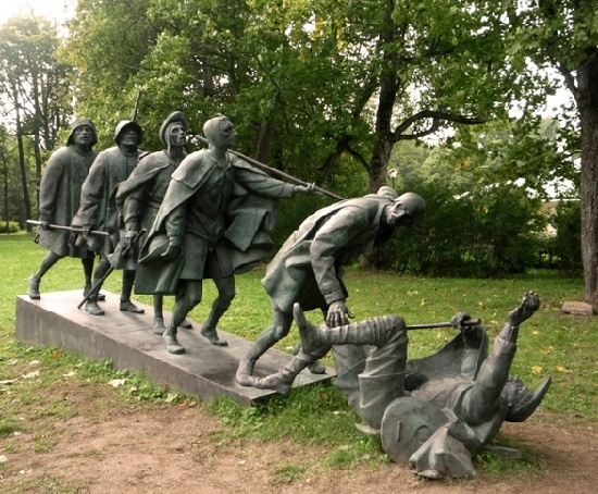 Blind person monuments in Russia