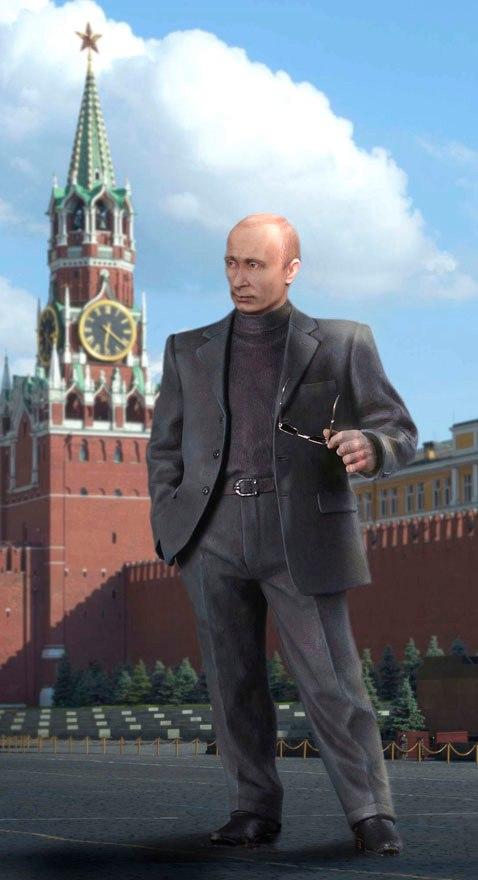 Putin sculpture