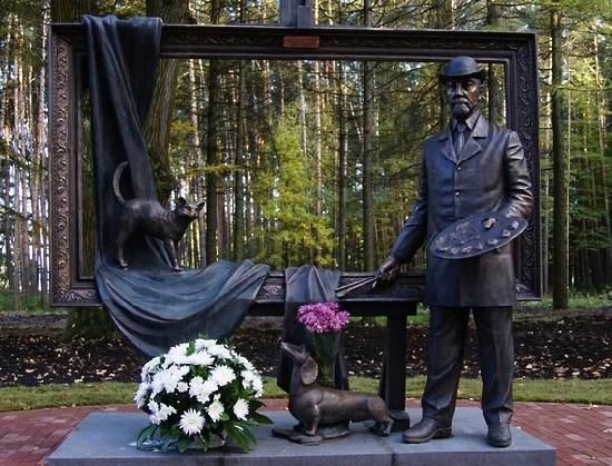 Russian artist Vasily Polenov monument