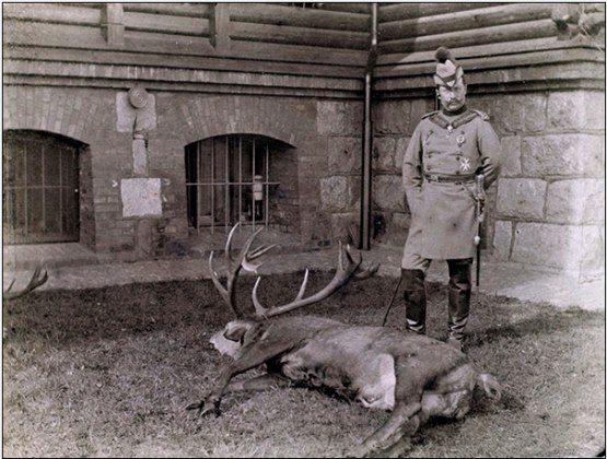 Sadly, for the pleasure of Wilhelm II and his guest, the Russian Tsar Nicholas II, a dozens of deer were killed in Rominten